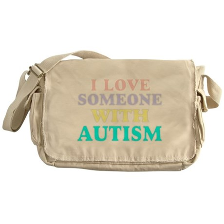 I love someone with autism 2 Messenger Bag