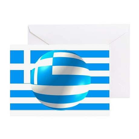 Greek Flag With Bubble Greeting Card