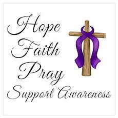 Support Awareness - Lupus Cross Poster
