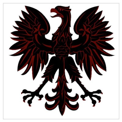 Polish Eagle red and black Poster