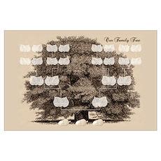 Family Tree 3 Acorns Poster