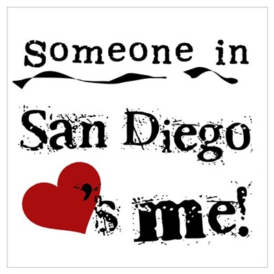 San Diego Loves Me Canvas Art