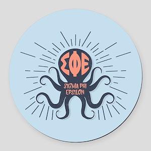 Sigma Phi Epsilon Octopus Round Car Magnet