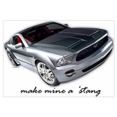 """make mine a 'stang"" Framed Print"