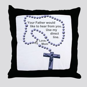 Love Mom 1 Throw Pillow
