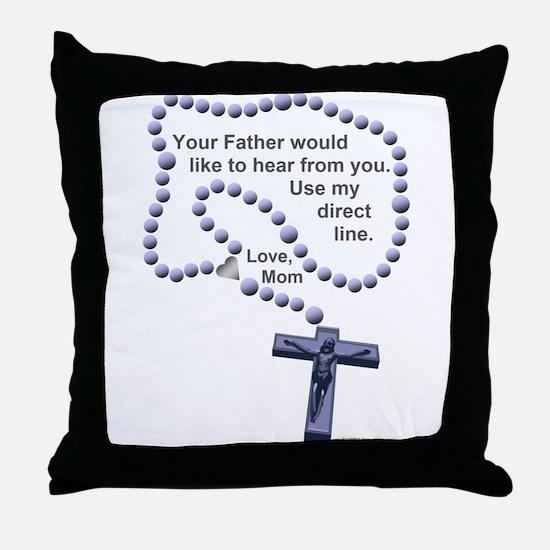 Love Mom 1 Throw Pillow