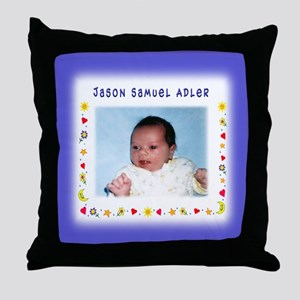 Blue Hearts Personalized Throw Pillow - Custom