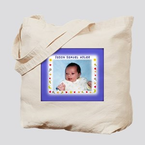Blue Hearts Personalized Tote Bag - Custom