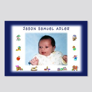 Blue w/Toys Personalized Postcards (8) - Custom