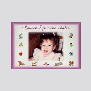 Pink w/Toys Personalized Magnet - Custom