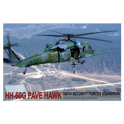 "35"" x 23"" HH-60G PAVE HAWK Poster"