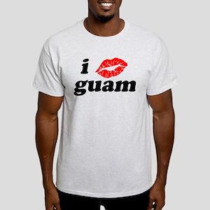 I Love Kiss Guam Heart Light T-Shirt