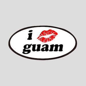 I Love Kiss Guam Heart Patches
