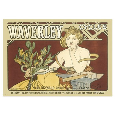Vintage Waverley Cycles Ad Poster