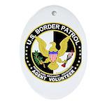 US Border Patrol mx2 Oval Ornament