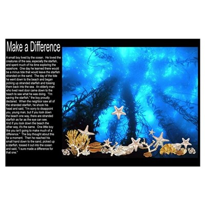 """""""Make A Difference"""" Poster"""