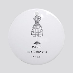 PARIS DRESSFORM Ornament (Round)