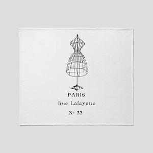 PARIS DRESSFORM Throw Blanket