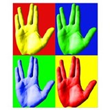 Live long and prosper vulcan salute card Wrapped Canvas Art