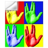 Live long and prosper vulcan salute card Wall Decals