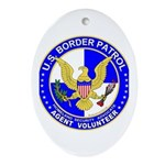 Immigration US Border Patrol Oval Ornament