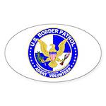 Immigrant US Border Patrol Oval Sticker