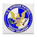 Immigrant US Border Patrol Tile Coaster