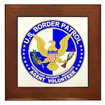 Immigrant US Border Patrol Framed Tile