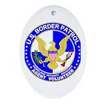 Immigrant US Border Patrol Oval Ornament
