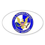 Border Security US Border Pat Oval Sticker