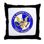 Border Security US Border Pat Throw Pillow