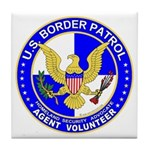Border Security US Border Pat Tile Coaster