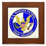 Border Security US Border Pat Framed Tile