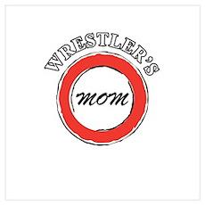 Wrestling Mom Design 2 Poster