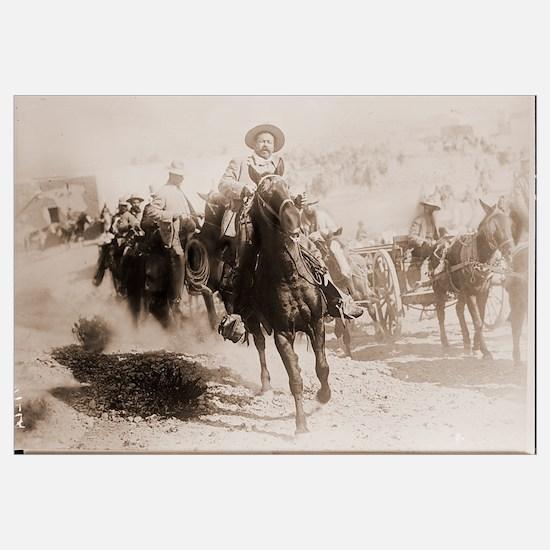 Pancho Villa Leading Battle Print