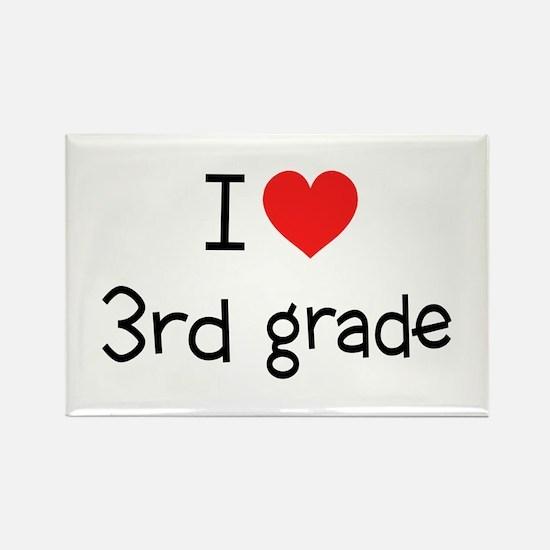 I Heart 3rd Grade: Rectangle Magnet