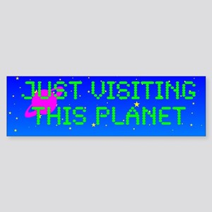 Just Visiting Bl. Sticker (Bumper)