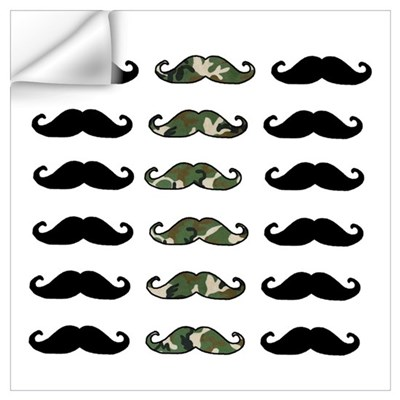 CAMO MOUSTACHE Wall Decal