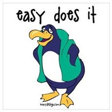 Easy Does It Penguin Canvas Art