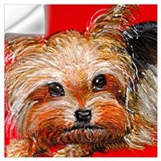 dog_yorkie_q01 Wall Decal