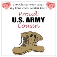 Proud US Army Cousin Poster