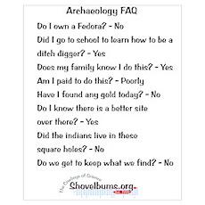 "11""X17"" - Archaeology FAQ- cbos Poster"