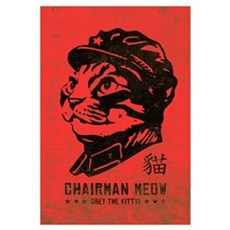 Chairman MEOW - Large Cat Propaganda Canvas Art