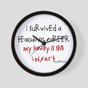 Retired Teacher IV Wall Clock