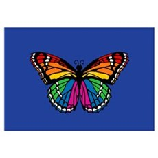 Rainbow Butterfly Canvas Art