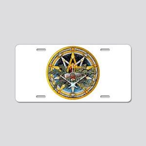 Yule Pentacle Aluminum License Plate