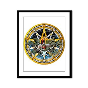 Yule Pentacle Framed Panel Print