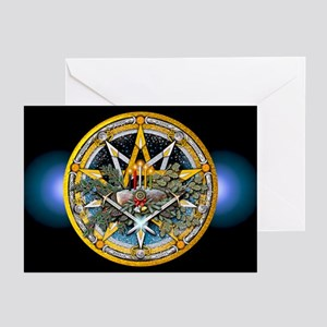 Yule Pentacle Greeting Cards (Pk of 10)