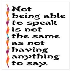Not Being Able to Speak... Poster