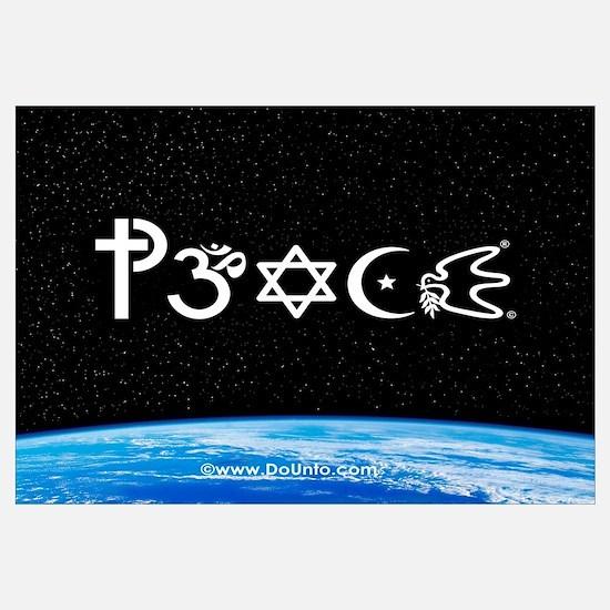 Peace-OM on earth at nite